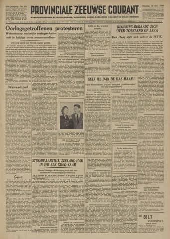 Provinciale Zeeuwse Courant 1949-10-18