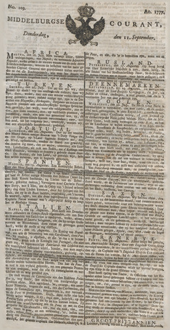 Middelburgsche Courant 1777-09-11