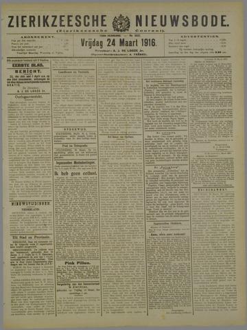 Zierikzeesche Nieuwsbode 1916-03-24
