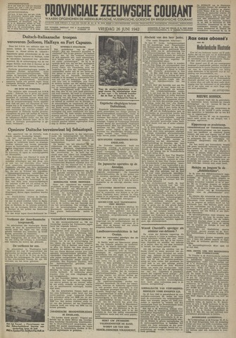 Provinciale Zeeuwse Courant 1942-06-26