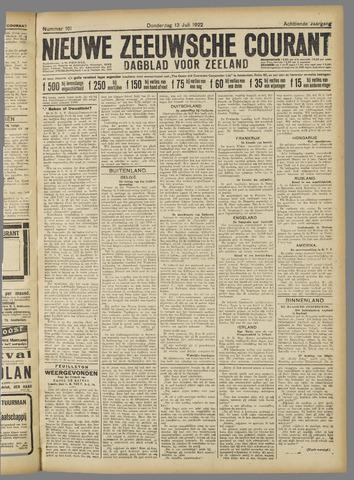 Nieuwe Zeeuwsche Courant 1922-07-13