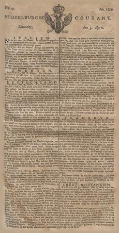 Middelburgsche Courant 1779-04-03