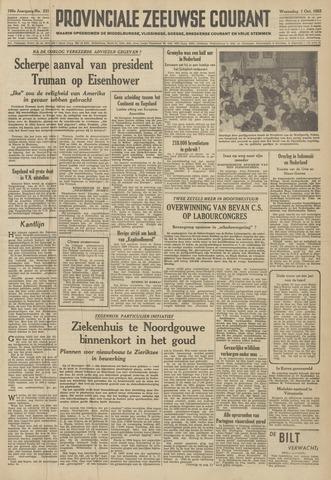 Provinciale Zeeuwse Courant 1952-10-01