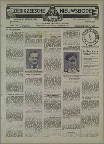 Zierikzeesche Nieuwsbode 1936-10-27