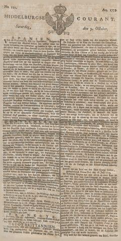 Middelburgsche Courant 1779-10-09