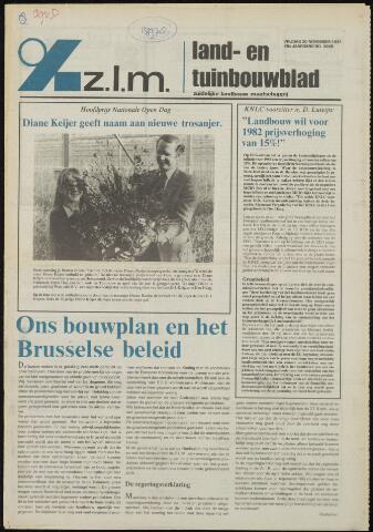 Zeeuwsch landbouwblad ... ZLM land- en tuinbouwblad 1981-11-20