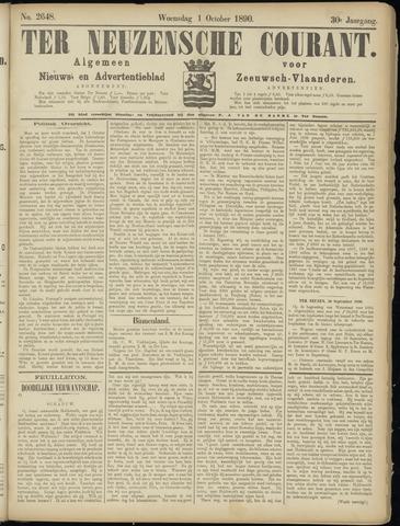 Ter Neuzensche Courant. Algemeen Nieuws- en Advertentieblad voor Zeeuwsch-Vlaanderen / Neuzensche Courant ... (idem) / (Algemeen) nieuws en advertentieblad voor Zeeuwsch-Vlaanderen 1890-10-01