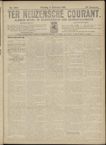 Ter Neuzensche Courant. Algemeen Nieuws- en Advertentieblad voor Zeeuwsch-Vlaanderen / Neuzensche Courant ... (idem) / (Algemeen) nieuws en advertentieblad voor Zeeuwsch-Vlaanderen 1920-02-17