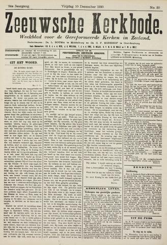 Zeeuwsche kerkbode, weekblad gewijd aan de belangen der gereformeerde kerken/ Zeeuwsch kerkblad 1920-12-10