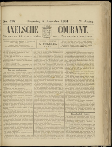Axelsche Courant 1891-08-05