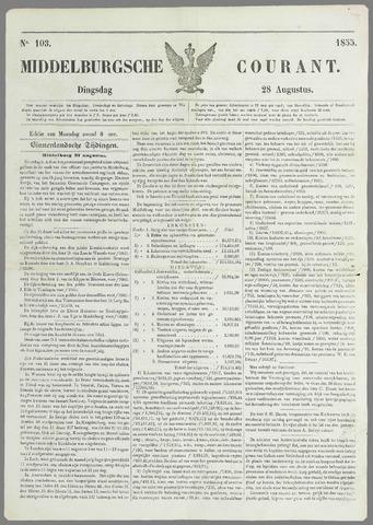 Middelburgsche Courant 1855-08-28