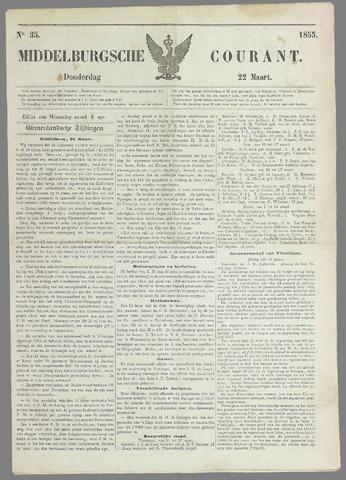Middelburgsche Courant 1855-03-22