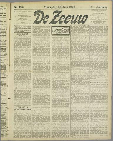 De Zeeuw. Christelijk-historisch nieuwsblad voor Zeeland 1920-06-23