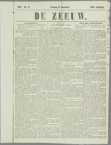 De Zeeuw. Christelijk-historisch nieuwsblad voor Zeeland 1890-11-18