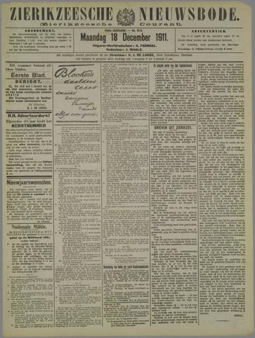 Zierikzeesche Nieuwsbode 1911-12-18
