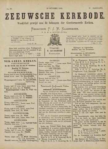 Zeeuwsche kerkbode, weekblad gewijd aan de belangen der gereformeerde kerken/ Zeeuwsch kerkblad 1888-10-20