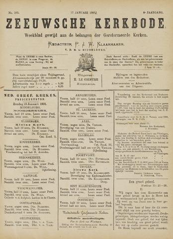 Zeeuwsche kerkbode, weekblad gewijd aan de belangen der gereformeerde kerken/ Zeeuwsch kerkblad 1891-01-17