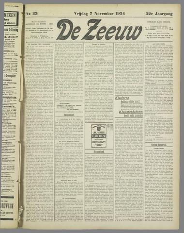 De Zeeuw. Christelijk-historisch nieuwsblad voor Zeeland 1924-11-07