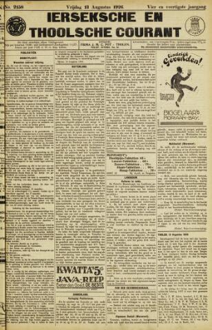 Ierseksche en Thoolsche Courant 1926-08-13