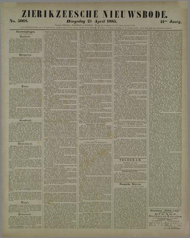 Zierikzeesche Nieuwsbode 1885-04-21
