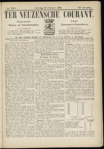 Ter Neuzensche Courant. Algemeen Nieuws- en Advertentieblad voor Zeeuwsch-Vlaanderen / Neuzensche Courant ... (idem) / (Algemeen) nieuws en advertentieblad voor Zeeuwsch-Vlaanderen 1880-02-21