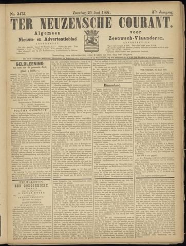 Ter Neuzensche Courant. Algemeen Nieuws- en Advertentieblad voor Zeeuwsch-Vlaanderen / Neuzensche Courant ... (idem) / (Algemeen) nieuws en advertentieblad voor Zeeuwsch-Vlaanderen 1897-06-26