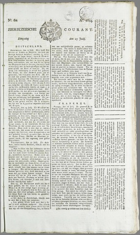 Zierikzeesche Courant 1824-07-27