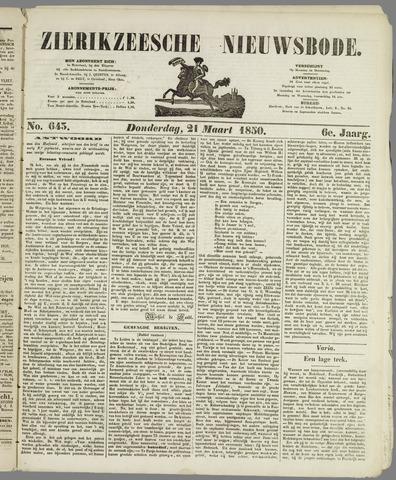Zierikzeesche Nieuwsbode 1850-03-21