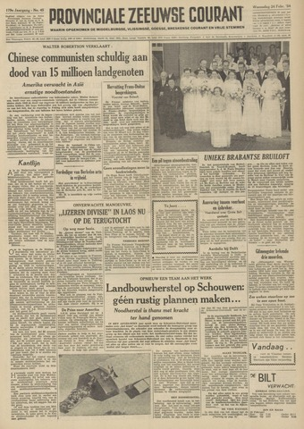 Provinciale Zeeuwse Courant 1954-02-24