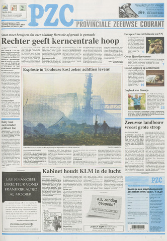 Provinciale Zeeuwse Courant 2001-09-22