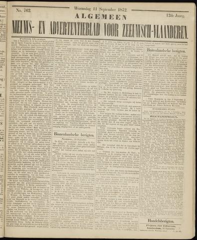 Ter Neuzensche Courant. Algemeen Nieuws- en Advertentieblad voor Zeeuwsch-Vlaanderen / Neuzensche Courant ... (idem) / (Algemeen) nieuws en advertentieblad voor Zeeuwsch-Vlaanderen 1872-09-11