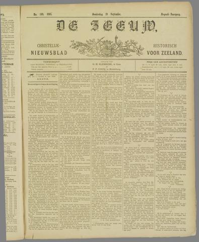 De Zeeuw. Christelijk-historisch nieuwsblad voor Zeeland 1895-09-19