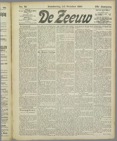 De Zeeuw. Christelijk-historisch nieuwsblad voor Zeeland 1918-10-24