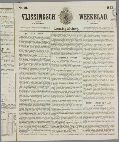 Vlissings Weekblad 1863-06-20