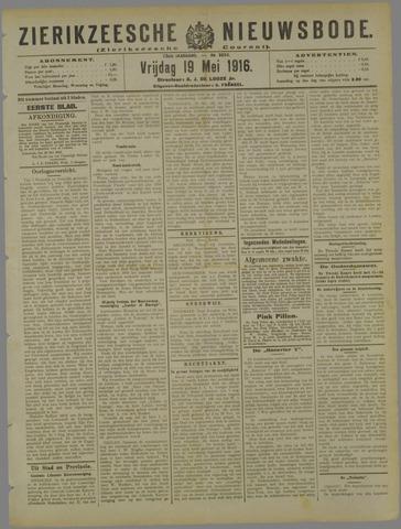 Zierikzeesche Nieuwsbode 1916-05-19