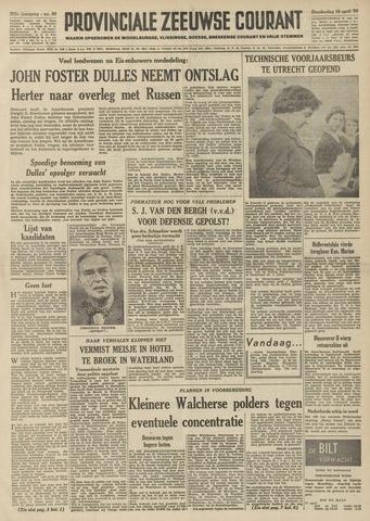 Provinciale Zeeuwse Courant 1959-04-16