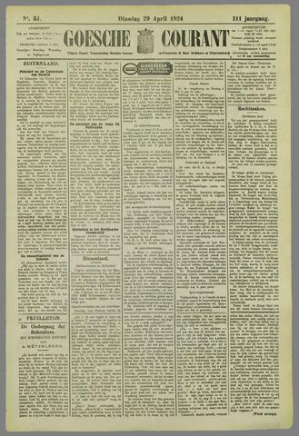 Goessche Courant 1924-04-29