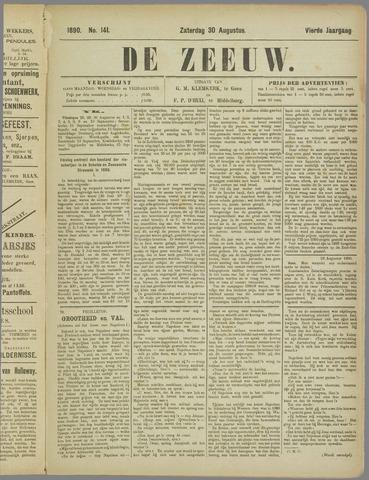 De Zeeuw. Christelijk-historisch nieuwsblad voor Zeeland 1890-08-30