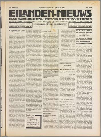 Eilanden-nieuws. Christelijk streekblad op gereformeerde grondslag 1938-12-14