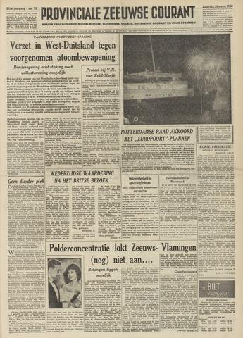 Provinciale Zeeuwse Courant 1958-03-29