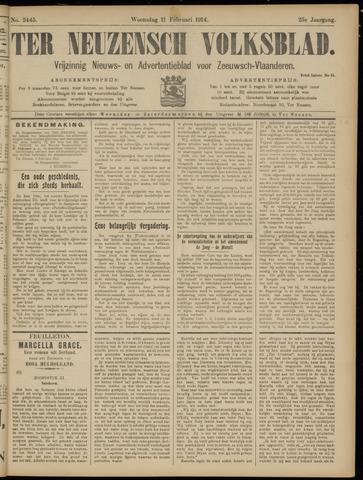 Ter Neuzensch Volksblad. Vrijzinnig nieuws- en advertentieblad voor Zeeuwsch- Vlaanderen / Zeeuwsch Nieuwsblad. Nieuws- en advertentieblad voor Zeeland 1914-02-11