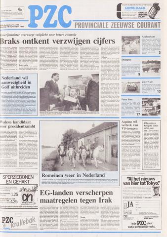 Provinciale Zeeuwse Courant 1990-09-18