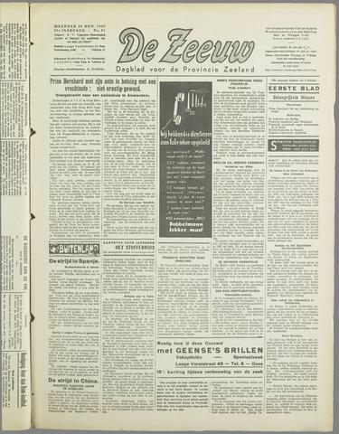 De Zeeuw. Christelijk-historisch nieuwsblad voor Zeeland 1937-11-29