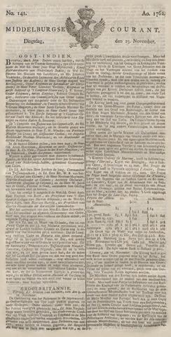 Middelburgsche Courant 1762-11-23
