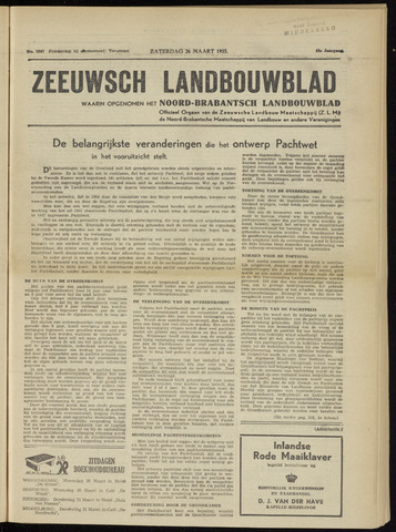 Zeeuwsch landbouwblad ... ZLM land- en tuinbouwblad 1955-03-26