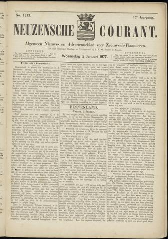 Ter Neuzensche Courant. Algemeen Nieuws- en Advertentieblad voor Zeeuwsch-Vlaanderen / Neuzensche Courant ... (idem) / (Algemeen) nieuws en advertentieblad voor Zeeuwsch-Vlaanderen 1877-01-03