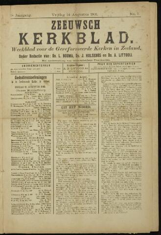 Zeeuwsche kerkbode, weekblad gewijd aan de belangen der gereformeerde kerken/ Zeeuwsch kerkblad 1903-08-14