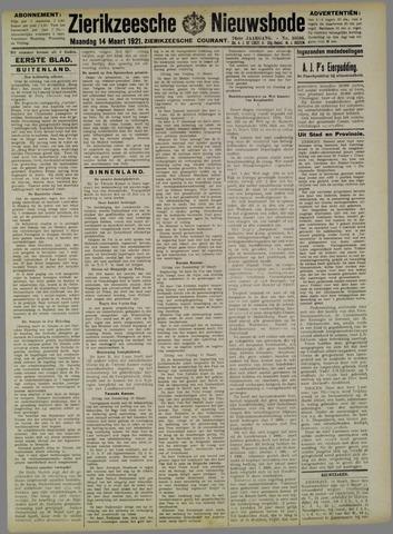 Zierikzeesche Nieuwsbode 1921-03-14