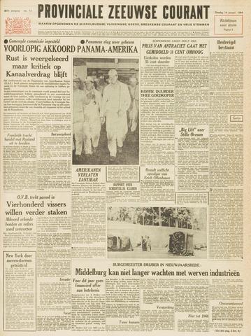Provinciale Zeeuwse Courant 1964-01-14