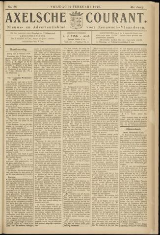 Axelsche Courant 1926-02-12